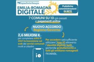 Emilia-Romagna: 2,6 milioni di euro per completare la transizione al digitale dei Comuni