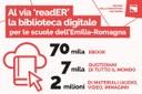 """Nasce """"readER"""", la biblioteca digitale gratuita per tutte le scuole dell'Emilia-Romagna"""